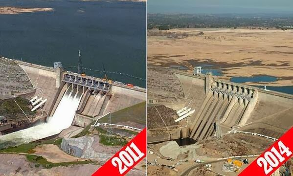 California Drought: Folsom Dam - climate change related?