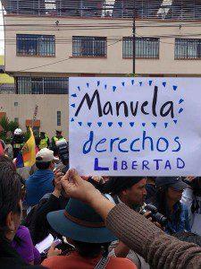 Manuela protest